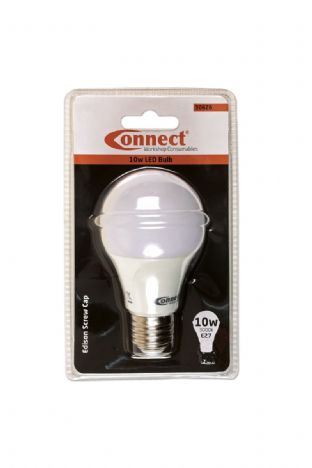 Connect 30626 10W LED Bulb 3000K E27 ES Fitting Warm White Pk of 1